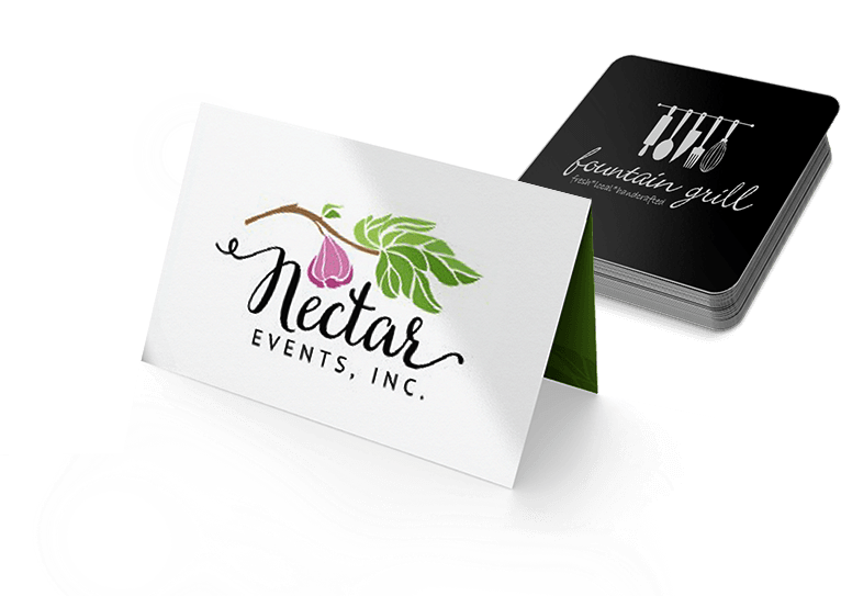 business card design example of fig and tree branch