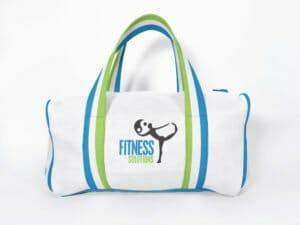 Fitness SOlutions logo on Gym Bag