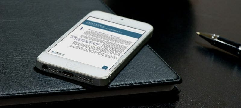 Publishing an eBook - eBook example mobile view