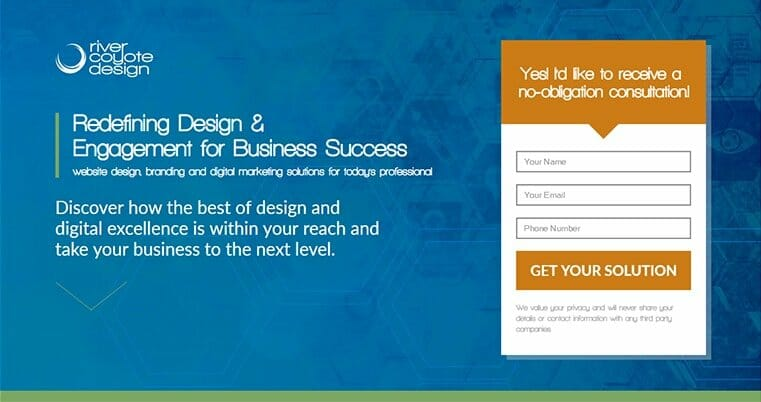 Free Consultation Landing Page