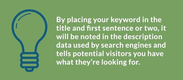 Business Blog SEO - Keyword