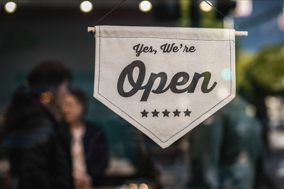 Business Thriving During a Crisis - Open Sign Small Business